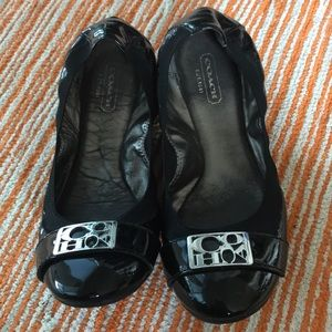 Coach collapsible black flats 7